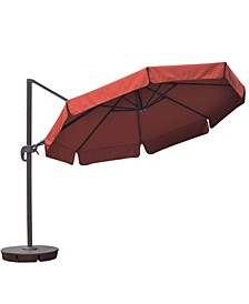 Freeport 11-Ft Octagonal Cantilever With Valance Patio Umbrella