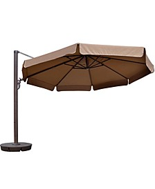 Victoria 13-Ft Octagonal Cantilever With Valance Patio Umbrella Sunbrella Acrylic