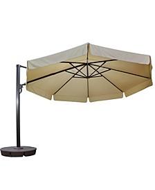 Victoria 13' Octagonal Cantilever with Valance Patio Umbrella Sunbrella Acrylic