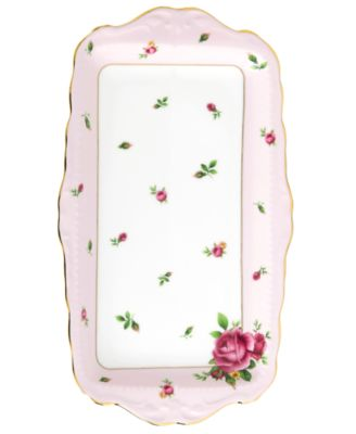 Old Country Roses Pink Vintage Sandwich Tray
