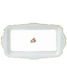 Old Country Roses Polka Rose Sandwich Tray
