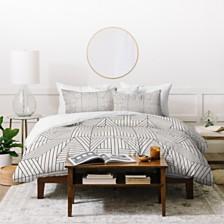 Deny Designs Holli Zollinger Line Mandala Twin Duvet Set