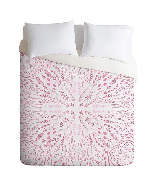 Deny Designs Iveta Abolina Pink Maze King Duvet Set