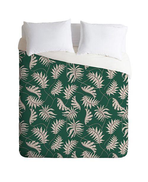 Deny Designs Holli Zollinger Urban Jungle Palm Queen Duvet Set