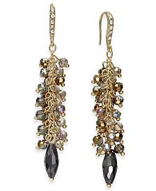 I.N.C. Gold-Tone Shaky Bead Drop Earrings, Created for Macy's