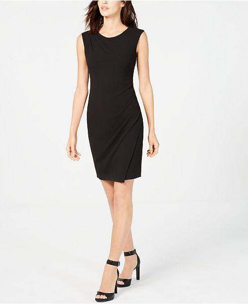 Calvin Klein Petite Ruched Sheath Dress