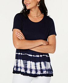 Style & Co Tie-Dye Hem Top, Created for Macy's