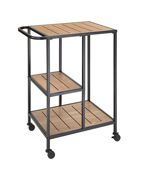 Jamesdar Dandy Metal Cafe Cart with Wood Shelves