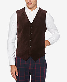 Perry Ellis Men's Slim-Fit Velvet Vest