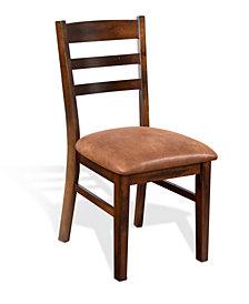 Santa Fe Dark Chocolate Ladderback Chair, Cushion Seat