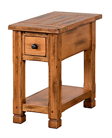 "Sedona 27""H Rustic Oak Chair Side Table"
