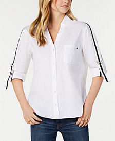Tommy Hilfiger Tab-Sleeve Shirt, Created for Macy's