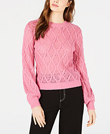 LEYDEN Cable-Knit Cropped Sweater