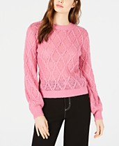 61bceca8effe Pink Cable-Knit Sweater   Fisherman Sweaters - Macy s