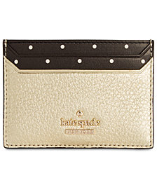 kate spade new york Blake Street Lynleigh Dotted Pebble Leather Card Case