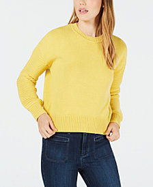 Maison Jules Ribbed-Sleeve Sweater, Created for Macy's
