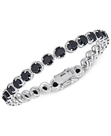 Onyx (5mm) Link Bracelet in Sterling Silver