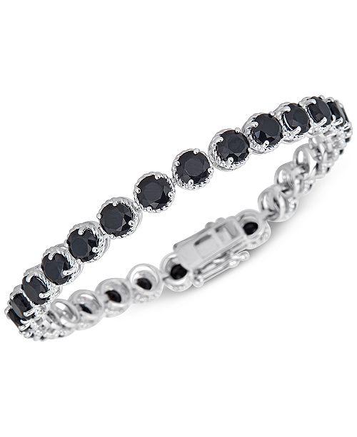 Macy's Onyx (5mm) Link Bracelet in Sterling Silver