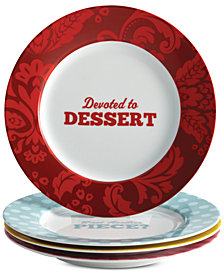 Cake Boss Set of 4 Porcelain Dessert Plates