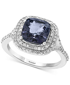 EFFY® Grey Spinel (2-5/8 ct. t.w.) & Diamond (3/8 ct. t.w.) Ring in 14k White Gold