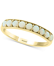 EFFY® Opal Statement Ring (3/8 ct. t.w.) in 14k Gold