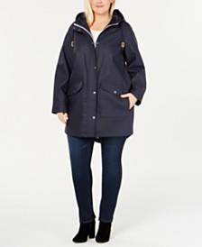 Levi's® Plus Size Coated Hooded Parka Jacket