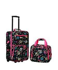 Rockland 2-Piece Peace Luggage Set