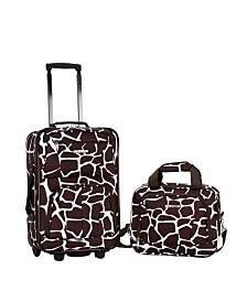Rockland 2-Piece Giraffe Luggage Set
