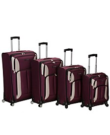 Impact 4PCE Softside Spinner Luggage Set