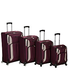 Rockland Impact 4PCE Softside Spinner Luggage Set