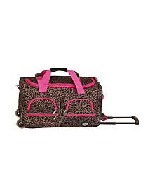 "Rockland Leopard 22"" Rolling Duffle Bag"