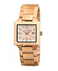 Culm Wood Bracelet Watch W/Date Khaki 39Mm