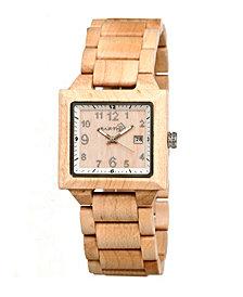 Earth Wood Culm Wood Bracelet Watch W/Date Khaki 39Mm