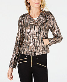 GUESS Teeya Metallic Moto Jacket