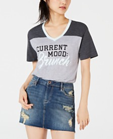 Love Tribe Juniors' Brunch Contrast Graphic T-Shirt