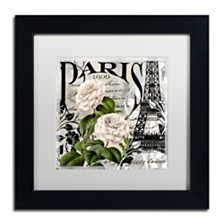 "Color Bakery 'Paris Blanc Ii' Matted Framed Art, 11"" x 11"""