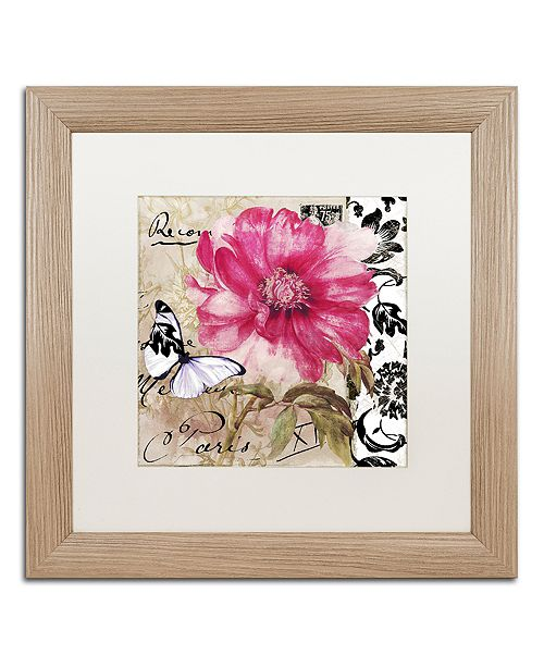"Trademark Global Color Bakery 'Le Pink' Matted Framed Art, 16"" x 16"""