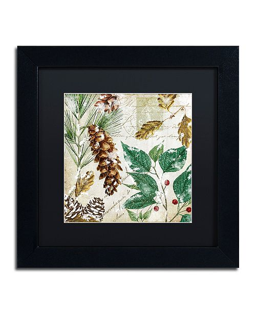 """Trademark Global Color Bakery 'Snow Cones I' Matted Framed Art, 11"""" x 11"""""""