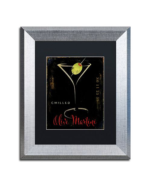 "Trademark Global Color Bakery 'Olive Martini Ii' Matted Framed Art, 11"" x 14"""