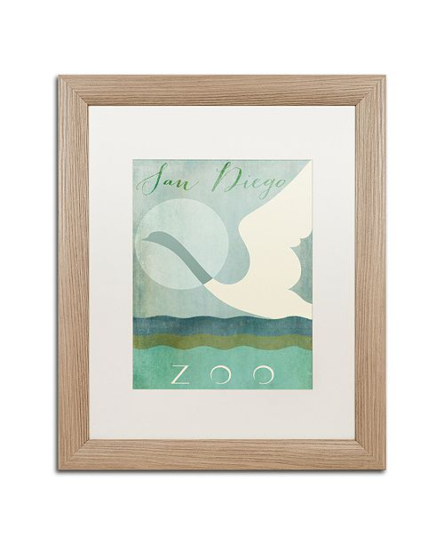 """Trademark Global Color Bakery 'San Diego Zoo' Matted Framed Art, 16"""" x 20"""""""