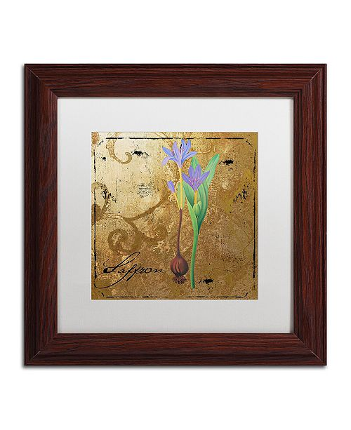 "Trademark Global Color Bakery 'Black Gold Herbs Ii' Matted Framed Art, 11"" x 11"""