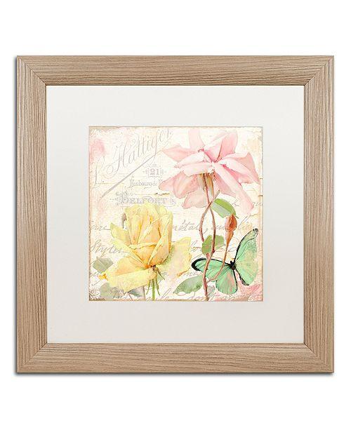 """Trademark Global Color Bakery 'Florabella Iv' Matted Framed Art, 16"""" x 16"""""""