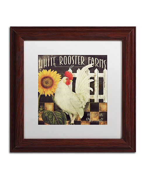 """Trademark Global Color Bakery 'Vermont Farms I' Matted Framed Art, 11"""" x 11"""""""