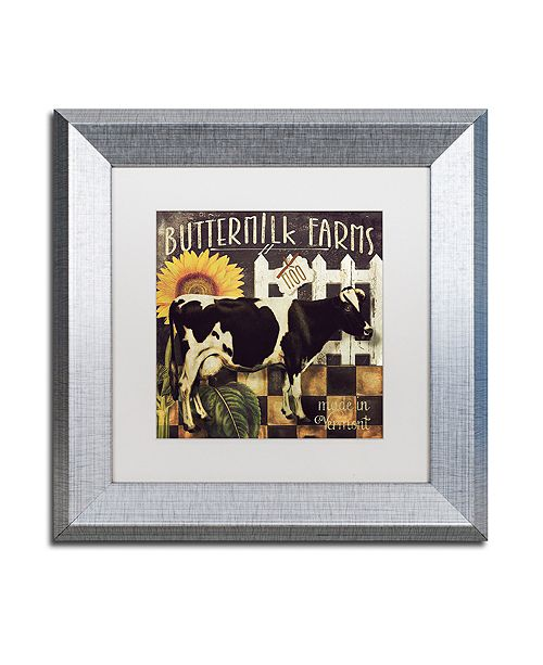 "Trademark Global Color Bakery 'Vermont Farms Ii' Matted Framed Art, 11"" x 11"""