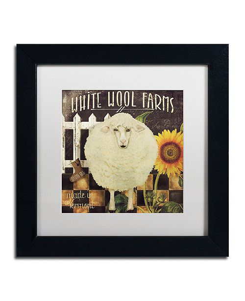 "Trademark Global Color Bakery 'Vermont Farms Iv' Matted Framed Art, 11"" x 11"""