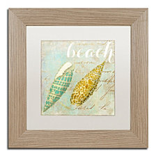 Color Bakery 'Turquoise Beach Ii' Matted Framed Art