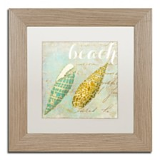 """Color Bakery 'Turquoise Beach Ii' Matted Framed Art, 11"""" x 11"""""""