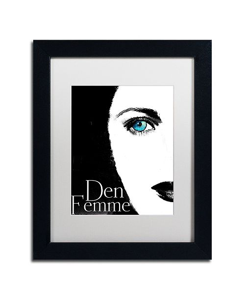 "Trademark Global Color Bakery 'Femme Den Ii' Matted Framed Art, 11"" x 14"""