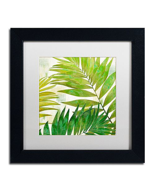 "Trademark Global Color Bakery 'Brasilia Ii' Matted Framed Art, 11"" x 11"""