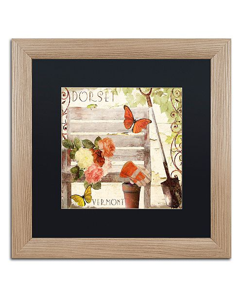 "Trademark Global Color Bakery 'Vermont Summer Iv' Matted Framed Art, 16"" x 16"""